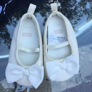 White Carter's Infant slippers